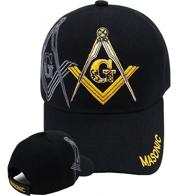 Buy Caps and Hats Masonic Baseball Cap Freemason Mason Hat Mens One Size Black - CK11DC1FNFD