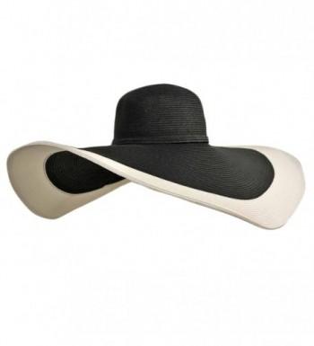 Black White Floppy Wide Brim
