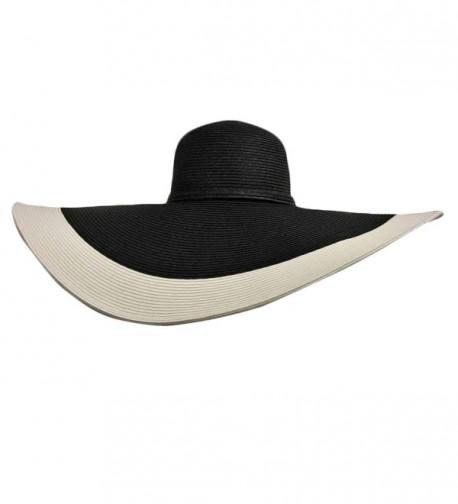Black White Floppy Wide Brim in Women's Sun Hats