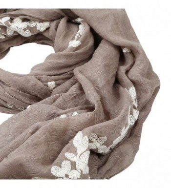 Premium Elegant Cherry Blossom Embroidered in Fashion Scarves