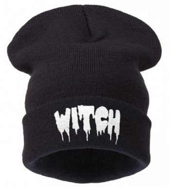 4sold Winter Black Beanie Hat and Snapback Men and Women Winter Cap - Witch Black - CA11HM5N7GH