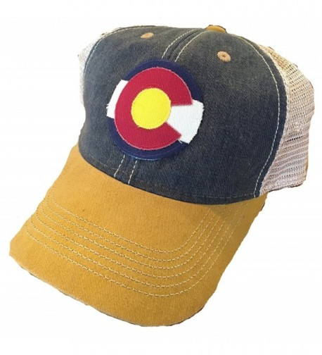 Colorado Flag Trucker Cap - Navy/Yellow - CH12CKAKPMB