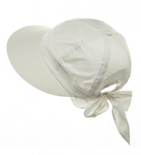 Ladies White Cotton Garden Hat