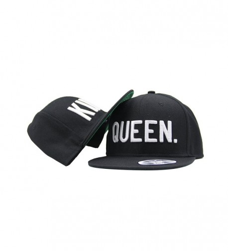 KING and QUEEN Snapback Pair Fashion Embroidered Snapback Caps Hip-Hop Hats One Size - C012HLKWYPH