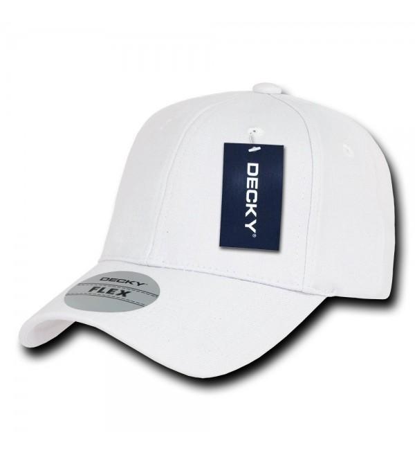 DECKY Fitall Flex Baseball Cap - White - C21199QDB9P