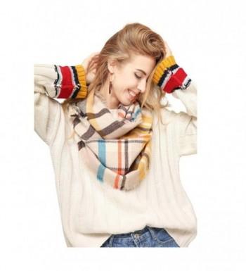 Metrust Womens Blanket Winter Oversized - Grid Yellow - CL186SZAK73