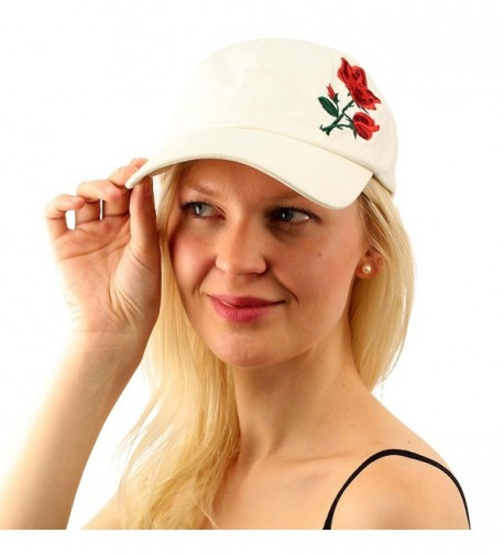 Cotton Embroidery Profile Baseball Hat in Women's Baseball Caps