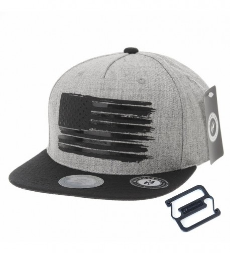 WITHMOONS Baseball Cap Star and Stripes American Flag Hat KR2305 - Grey - CU12FD17ORT