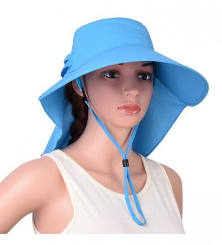 VBIGER Visor Hats Wide Brim Cap Summer Sun Hats With UPF50+ For Women - Sky Blue - CS17YA4LXLK