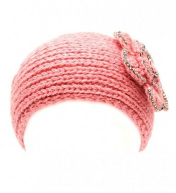 700hb 47a Crocheted Headband Flower Decoration 9colors