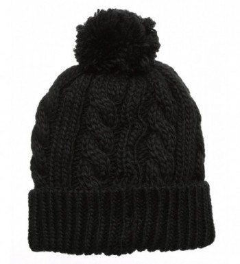 Womens Knitted Fleece Beanie MirMaru in Women's Skullies & Beanies