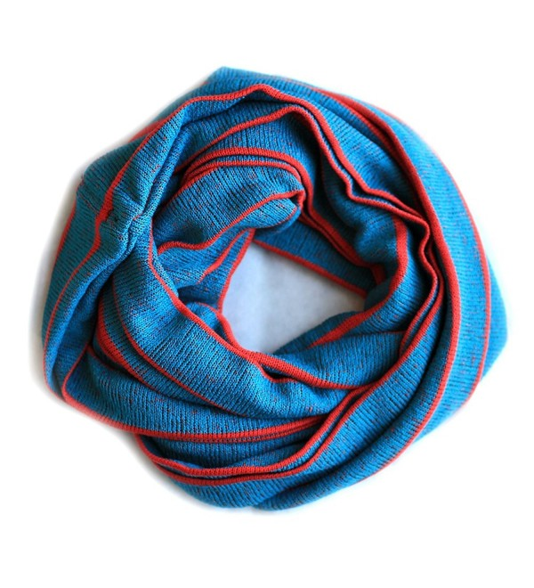 JC Unisex Loop Infinity Muffler Scarf Neck Warmer Shawl Head Wrap Made in USA - Blue/Red - C212NUNXUG8