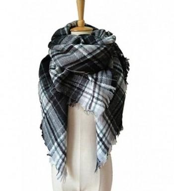JOYEBUY Women's Warm Stylish Tassels Soft Plaid Tartan Scarf Large Blanket Wrap Shawl Valentine's Gift - Style 2 - CZ1856EGMAA