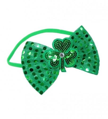 CTM Women's Shimmering Shamrock Sequin Headband - Green - C412NZHJ68A