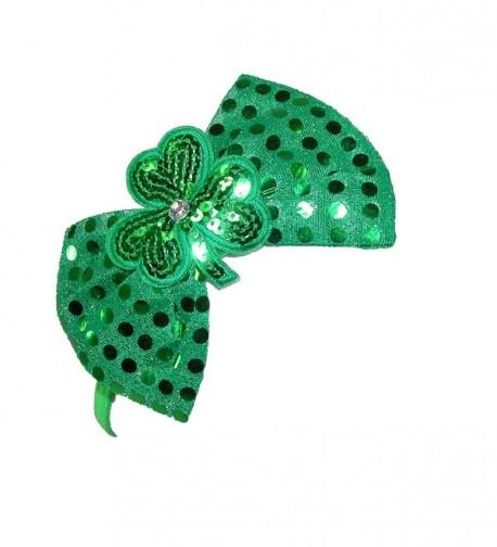 CTM Womens Shimmering Shamrock Headband