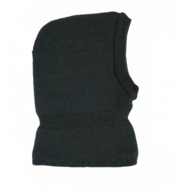 N'Ice Caps Men's Warm Sherpa Lined Knitted Balaclava Headwear - Black - CB12LLLMH9Z