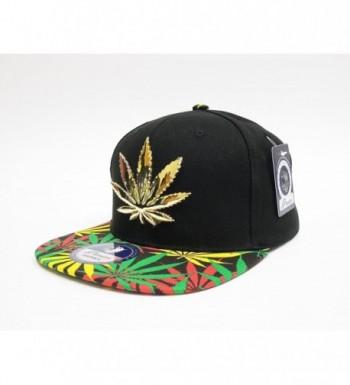 Cap2Shoes Marijuana Metal Snapback Rasts