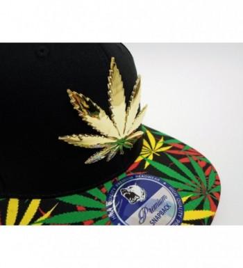 Cap2Shoes Marijuana Metal Snapback Rasts in Men's Baseball Caps