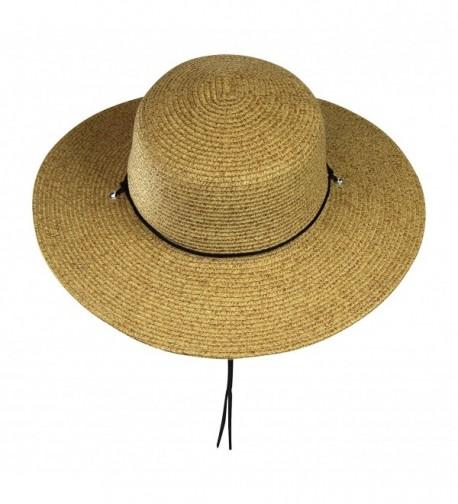 fa2e1c8cd3360 Wide Brim Straw Sun Hat w Chin Strap Summer Cap For Beach- Travel ...