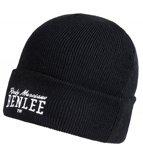 Benlee Boxing Rocky Marciano Men&acutes Beanie Hat Cap Black Embroided Logo - CC12O0JSGS8
