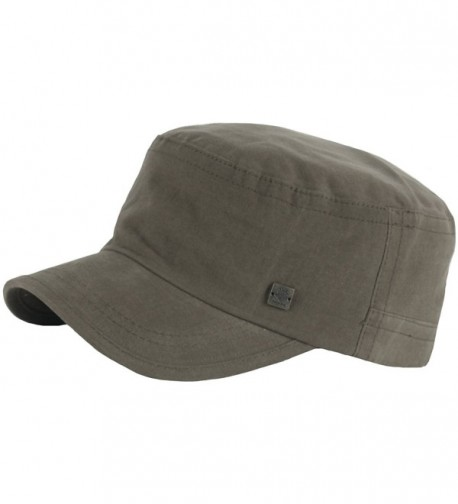 RaOn A153 New Unisex Simple Soft Irish Basic Unique Golf Army Cap Cadet Military Hat - Khaki - C712O7PKUSO
