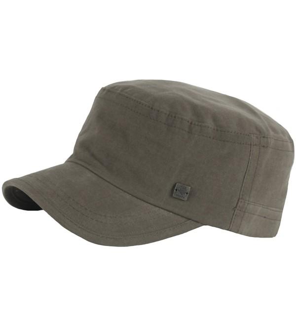 RaOn A153 New Unisex Simple Soft Irish Basic Unique Golf Army Cap Cadet Military Hat - Khaki - C712O7PKUSO