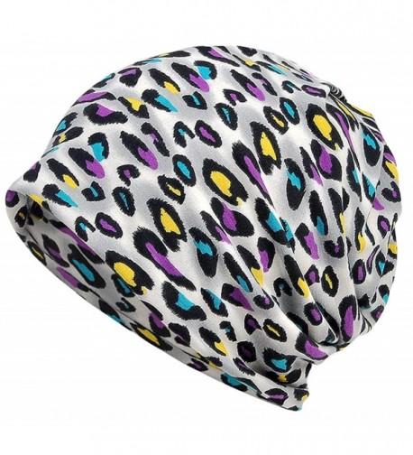 Qiabao Women's Slouch Print Chemo Beanie Hat Cap Headwear - A - C317Z32EN32