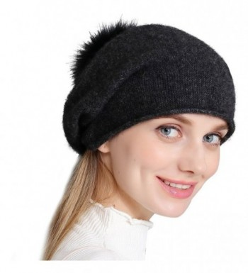 Cashmere Womens Winter Beanie Slouch in Women's Berets