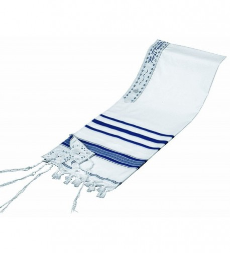 Acrylic Tallit (imitation Wool) Prayer Shawl - Blue - CG119W57IGP