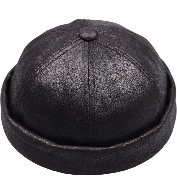 sujii Leon MST Skull Cuff Beanie Hat Watch Cap Docker Hat - Black - C8187NAYCM9