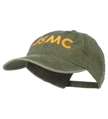 USMC Letter Embroidered Washed Cap