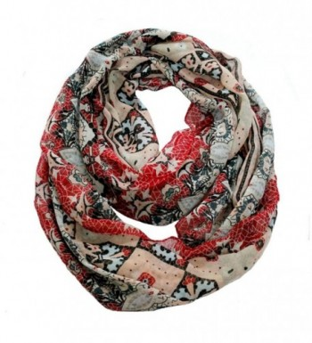 Sexyinlife Multicolor Floral Print Chiffon Infinity Loop Circle Scarf - Multi - CR129J6GQ5P
