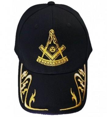 Past Master Mason Baseball Cap Freemason Hat Mens One Size Black - CH120RQ27ZT