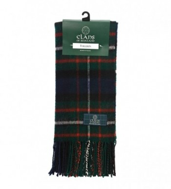 Clans Of Scotland Pure New Wool Scottish Tartan Scarf Ferguson (One Size) - CS12581C0QJ