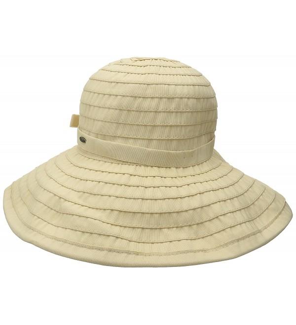 Scala Women's Big Brim Ribbon Hat - Natural - CQ128K2FROZ