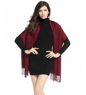 Natural Cashmere Scarf Shawl Pomegranate - Pomegranate Red - CT128K1LH6X