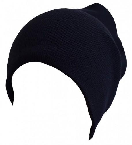 PATT Ind. Long Beanie Plain Hat - Navy - C6125HKWYLH