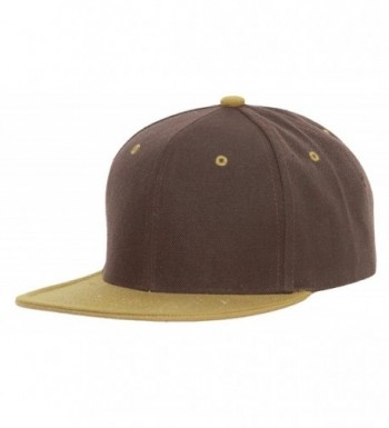 CTH Vintage Snapback Cap Hat - Brown Olive - CW116PDLTP3