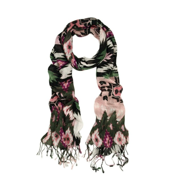 Multi Color Tribal Style Fringe Scarf - Different Colors Available - V3 - C211CP2P5KX