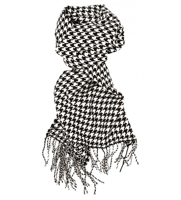 Love Lakeside-Women's Cashmere Feel Winter Plaid Scarf (One- Black and White Houndstooth) - C412MZHR87H