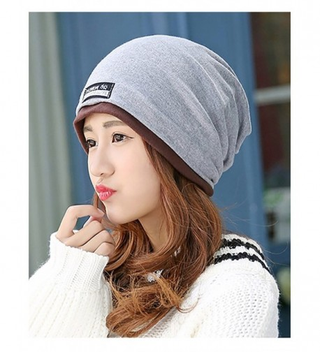 No.66 Town Unisex Adult Cotton Slouchy Beanie Skull Cap Cycling Hat Mult Colors - Light Grey - CF12N4UCVJ8