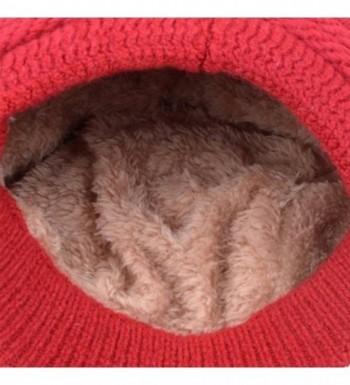 Braided Cabled Winter Crochet Newsboy in Women's Newsboy Caps