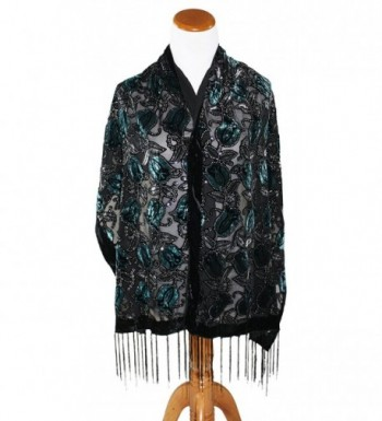 Ted Jack Peacock Burnout Brocade in Cold Weather Scarves & Wraps