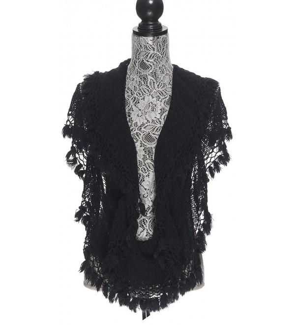 Scarfs Women Infinity Lightweight Fashion - Black - CD12MRVF83F