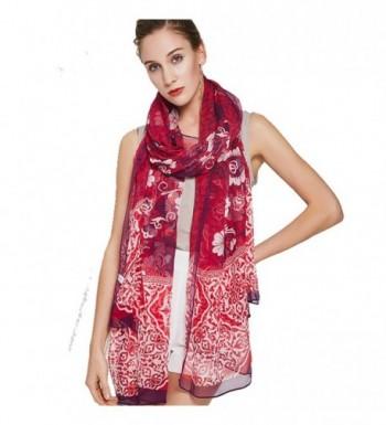 DANA XU 100% Pure Silk Large Size Pashmina Women Scarf - Purple - CV188TWS4LZ