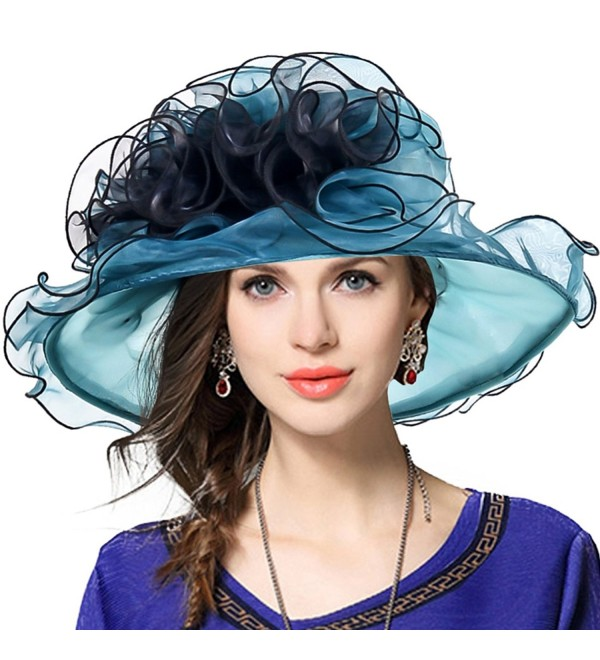 38000d329a082 Two-Tone Tea Party Kentucky Derby Church Hat Wedding Dress Hat Bridal  Shower - Emerald
