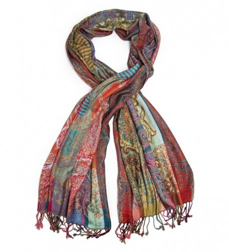Bohomonde Jivala Scarf- Woven Reversible Striped Pashmina Scarf- hand made in India - Festival - CH11QJ3MYBH