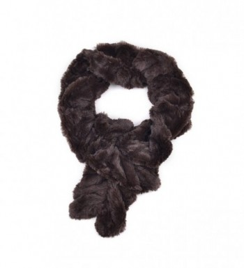 AOLOSHOW Winter Warm Fuax Fur Infinity Cowl Scarf Various Styles and Colors - Tiger & Stretchable - Beige - CU184UXK6IO