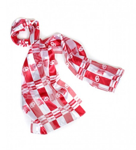 Official NCAA Oklahoma Sooners Sheer Scarf Available in 2 Different Colors - Red-2 - CM1108CGBOV