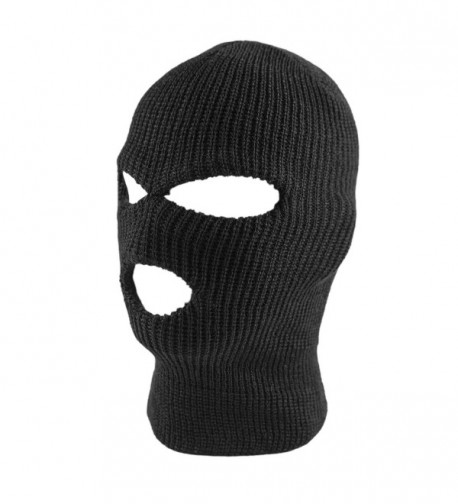 Knit Black Face Cover Thermal Ski Mask For Cycling & Sports - CL128VUBT4N